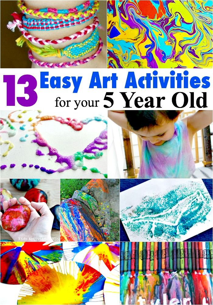 13 Easy Art Activities For Your 5 Year Old Easy art Art