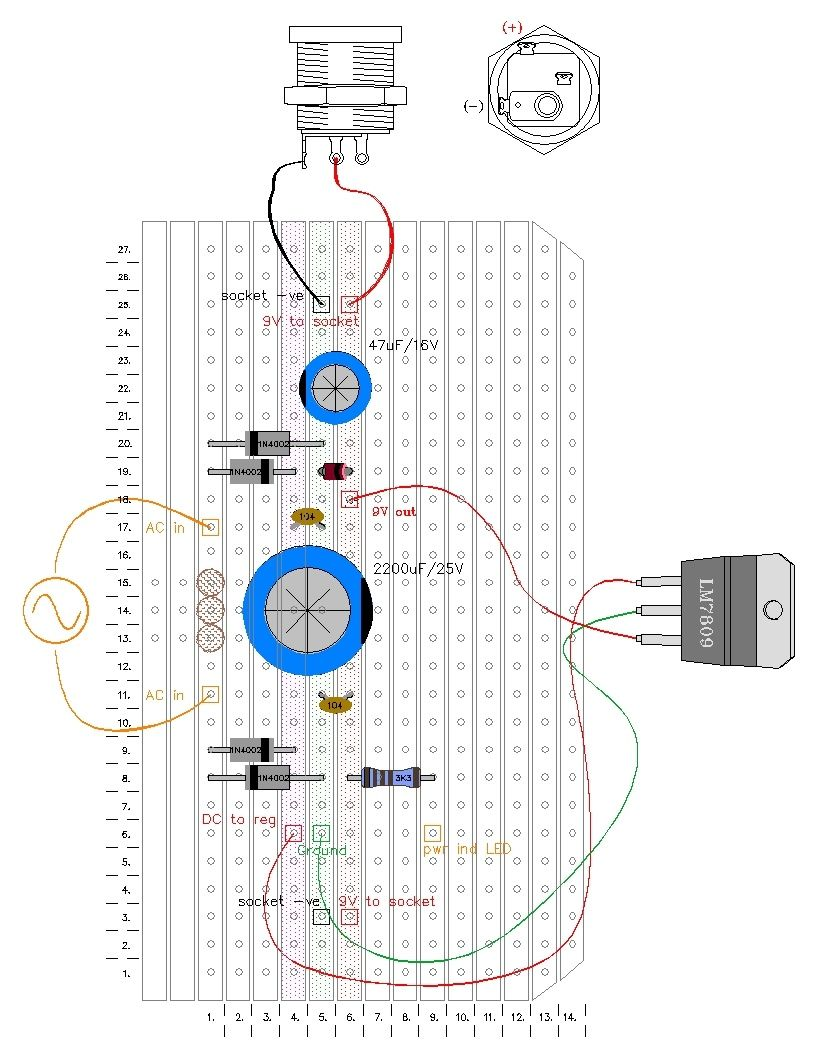 small resolution of 9 volt guitar pedal regulated power supply