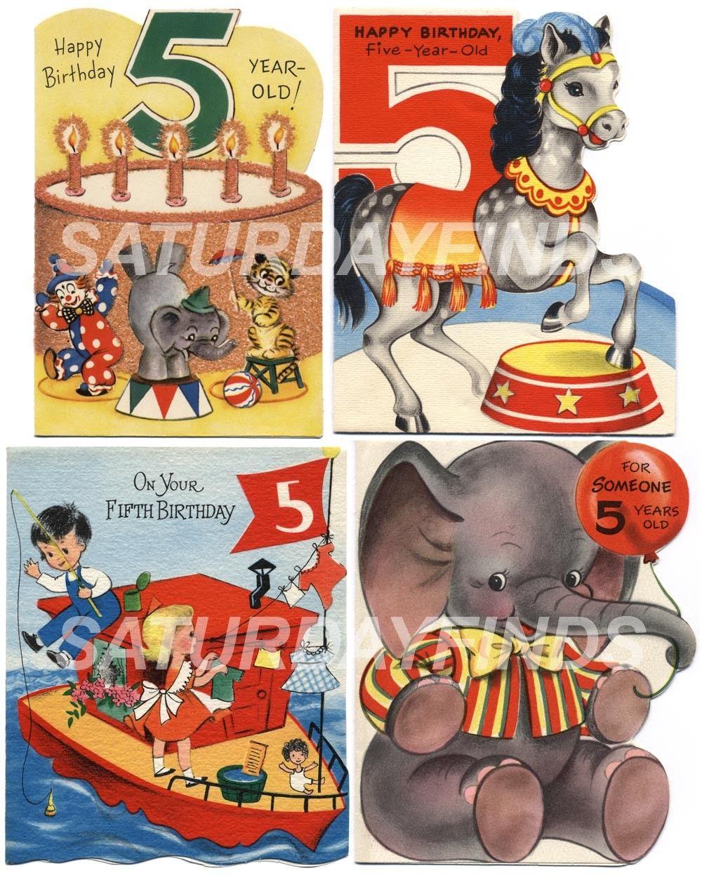 Vintage greeting cards happy birthday 5 year old no 1 of 1 vintage greeting cards happy birthday 5 year old no 1 of 1 vintage kristyandbryce Image collections