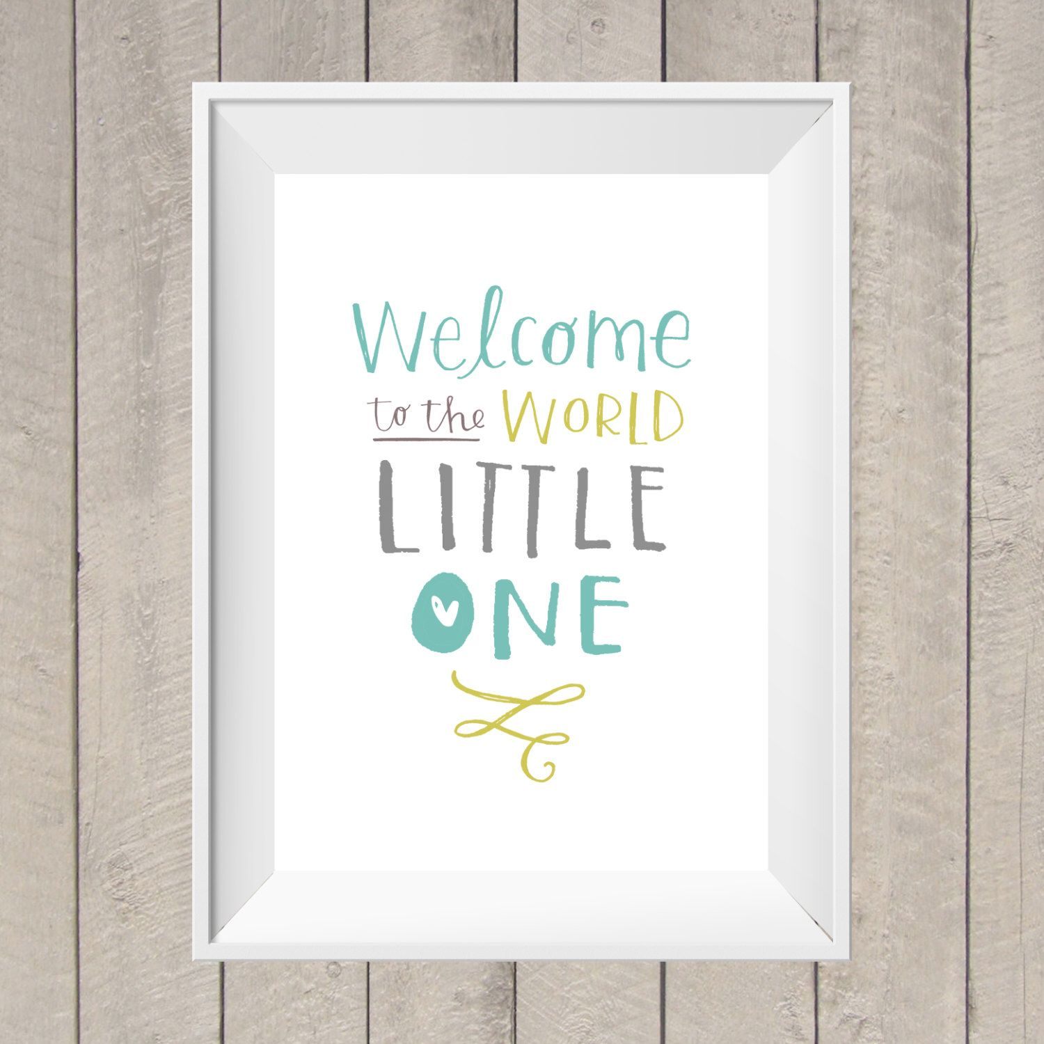 Welcome To The World Nursery Print Hand Lettering New Baby Gift Baby Shower Nursery Printable Digit New Baby Products Hand Lettering New Baby Gifts