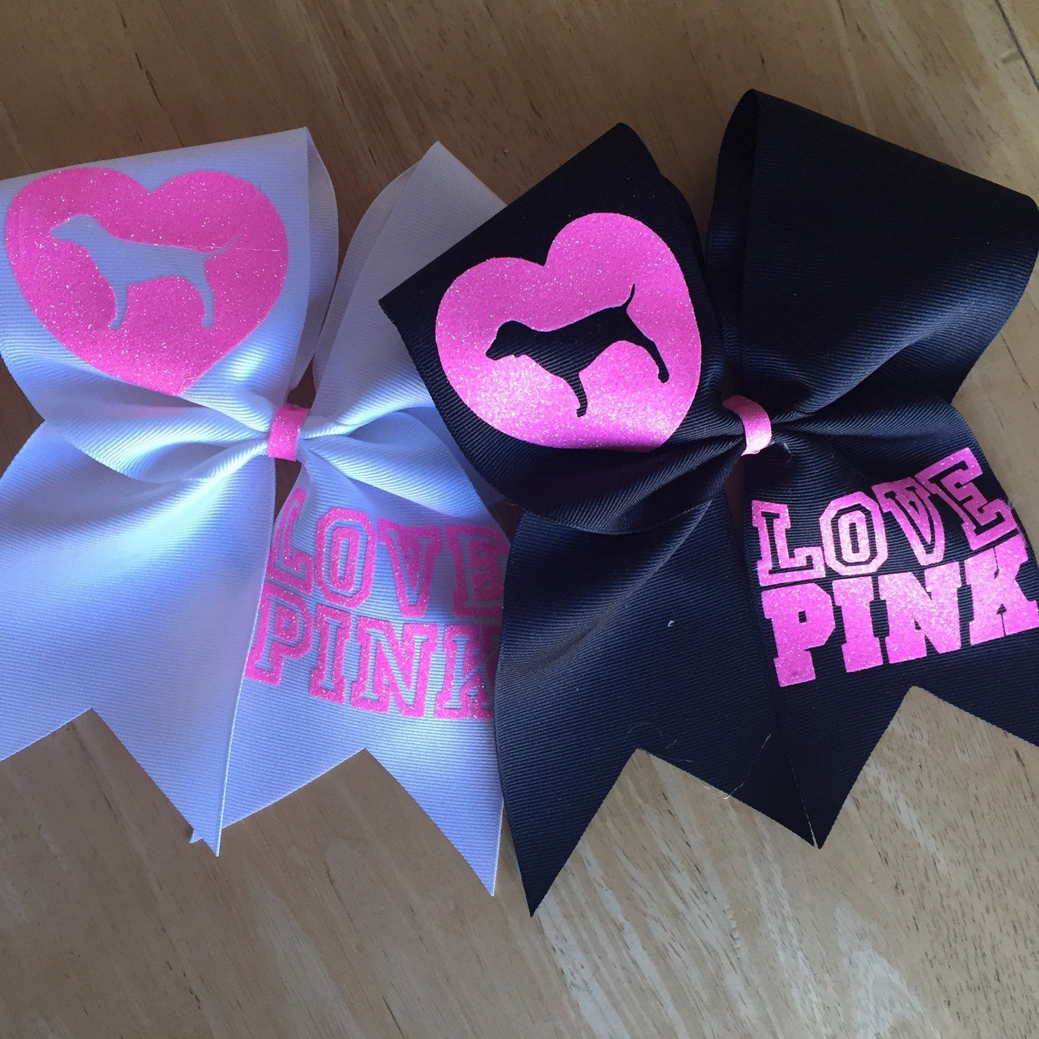 Cheer bow holder for cheer bows and hair bows cheer bow hanger - Pink Cheer Bows Victoria S Secret Pink Cheer Bow Love Pink Dog Heart Cheerleading Sports Hair Bow