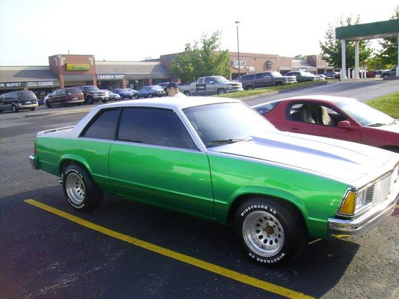 1978 Chevy Malibu My First Car Mine Was A Four Door But Looked A Lot Like This Right Down To The Tinted Windows Aftermarket Wheels And Bright Green Paint