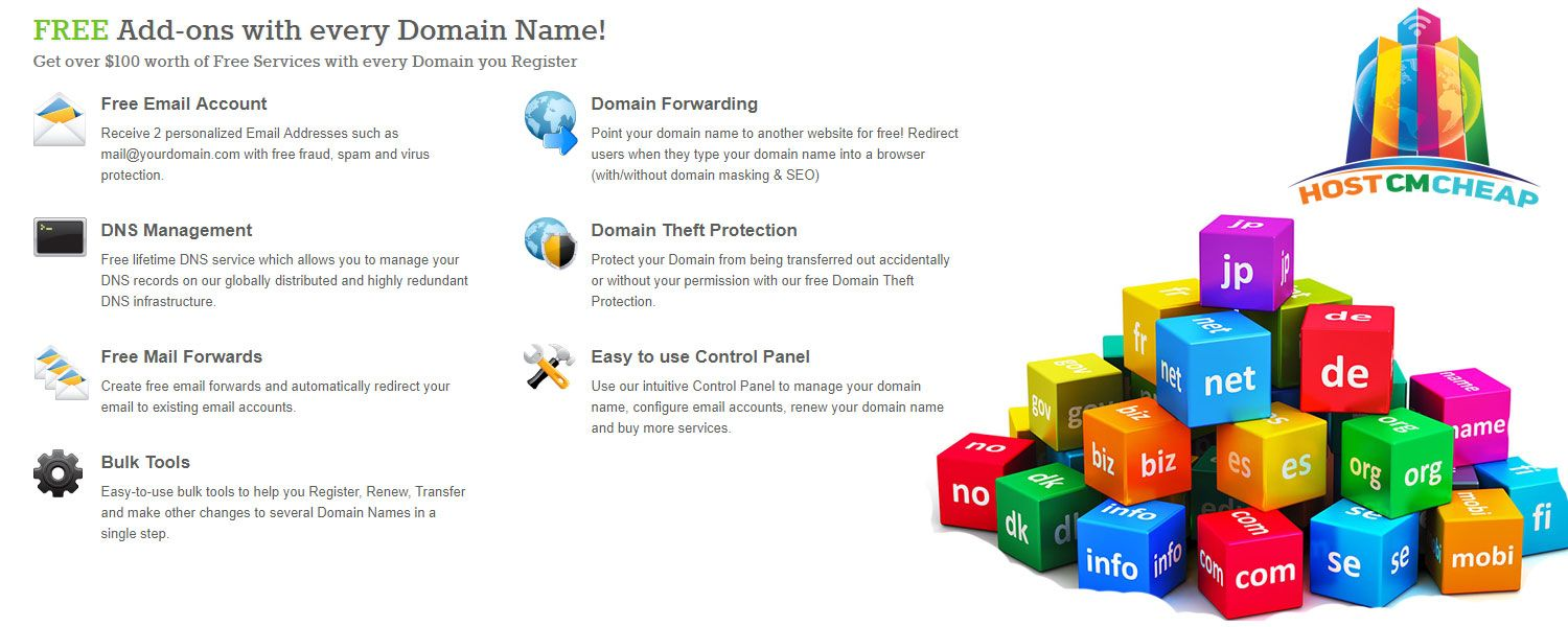 Get domain name of all extensions at a very low cost like