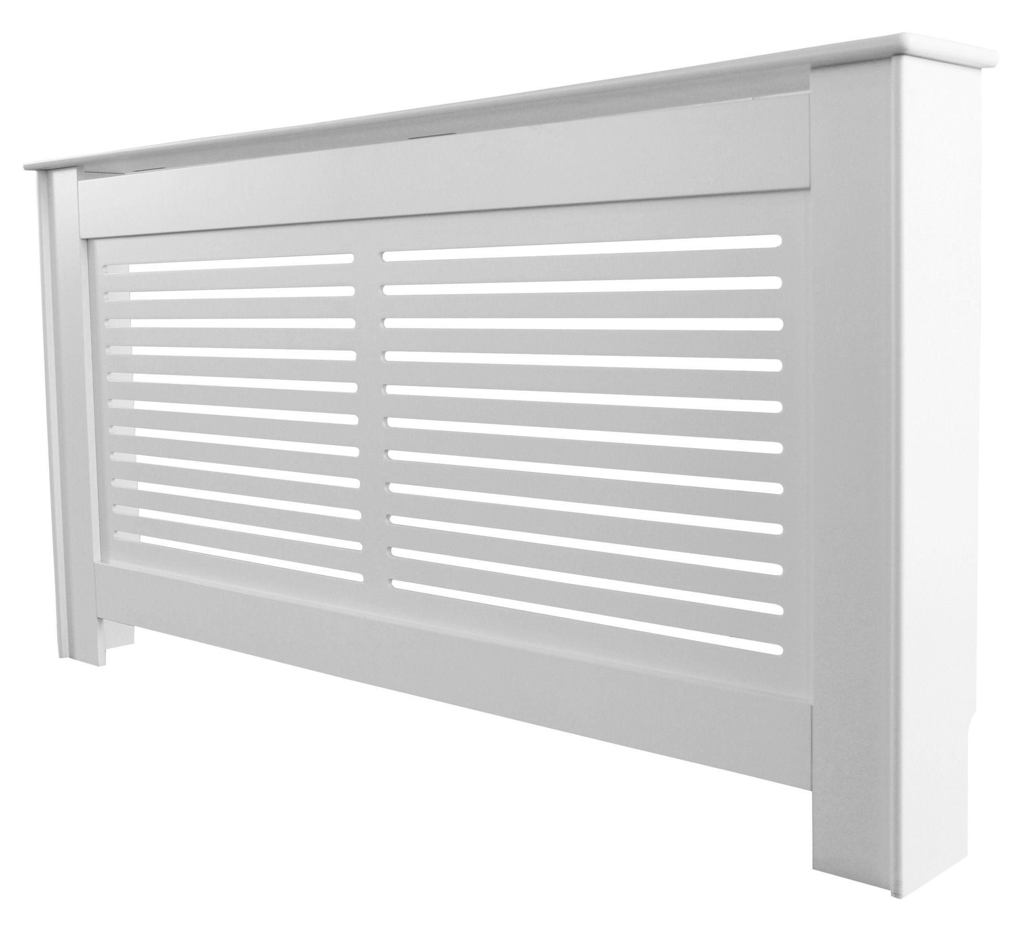 Large White Suffolk Radiator Cover Departments DIY at