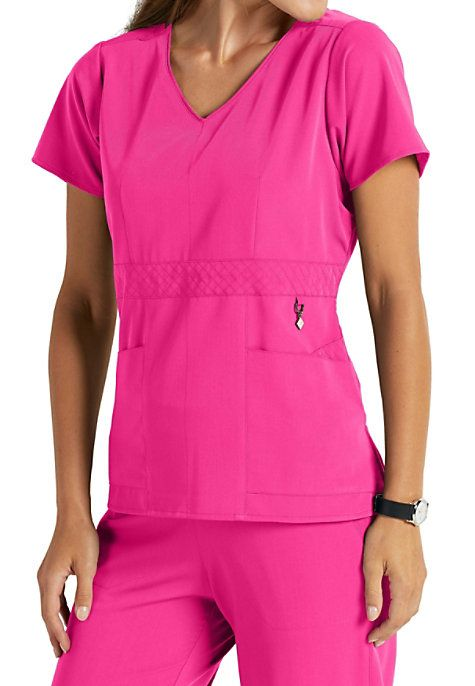 fc362ef16ee Bring fashion to the workplace with the Frida V-neck Scrub Top from the Vera  Bradley Collection! You'll love the cute accents on this modern, ...