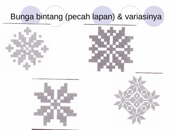 Image result for songket melayu pattern Bintang, Bunga