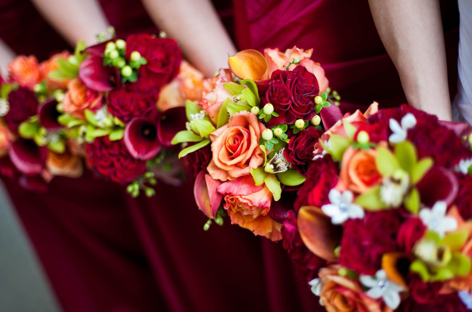 Burgandy and Orange Summer Wedding Affair Peach wedding