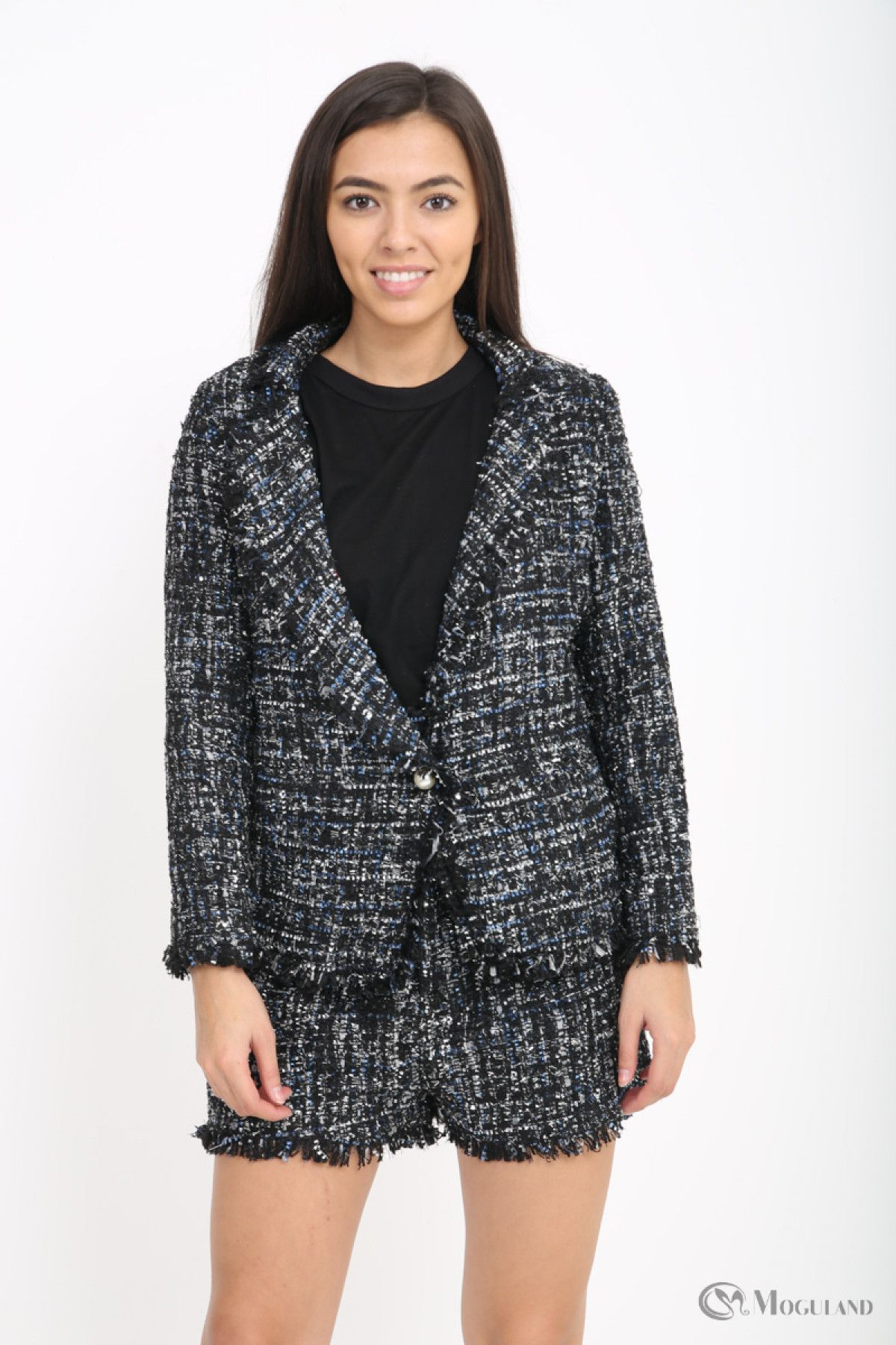 Ladies black boucle blazer and shorts co-ord wholesale - Women s Wholesale  Clothing Supplier 73b6050d4