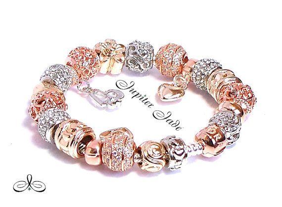 pandora bracelet rose gold clasp