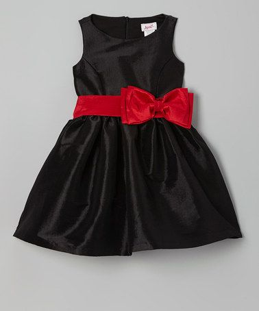 Take a look at this Black & Pink Bow Dress - Girls by Jupon by Baby Nay on #zulily today!