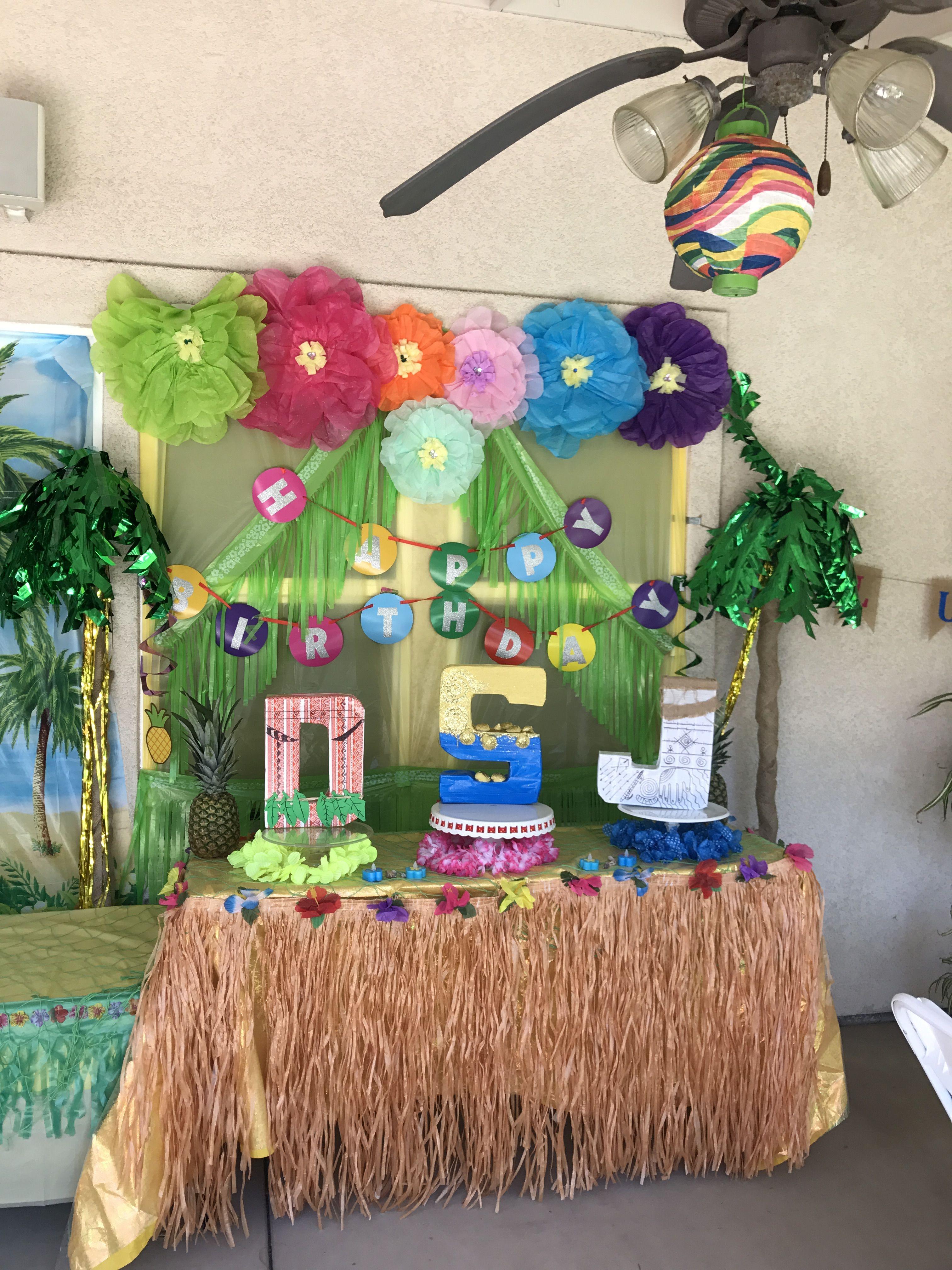 Hawaiian Moana Cake Table Decor Cake Table Decorations Moana