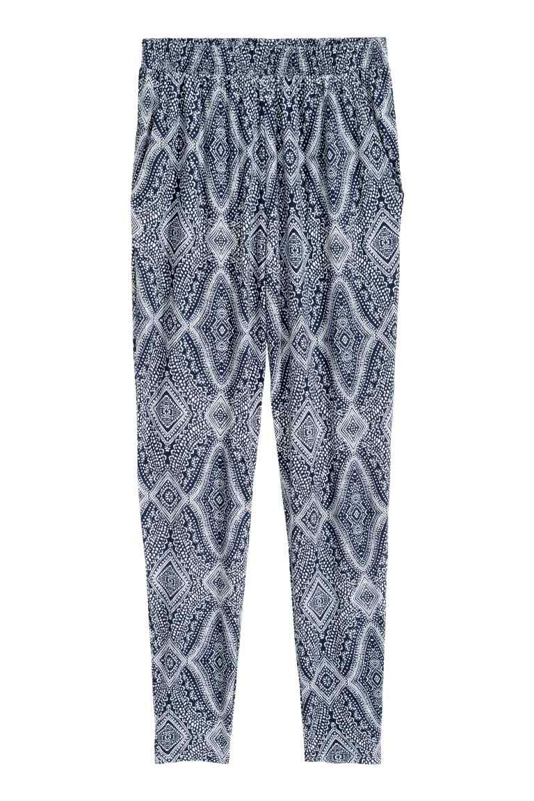 Pantalón estampado de punto   H&M