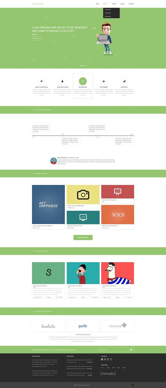 Minuelo Multipurpose PSD Template by buhin on @creativemarket