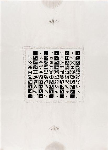 Alighiero Boëtti, Alternando da uno a cento e viceversa, 1978
