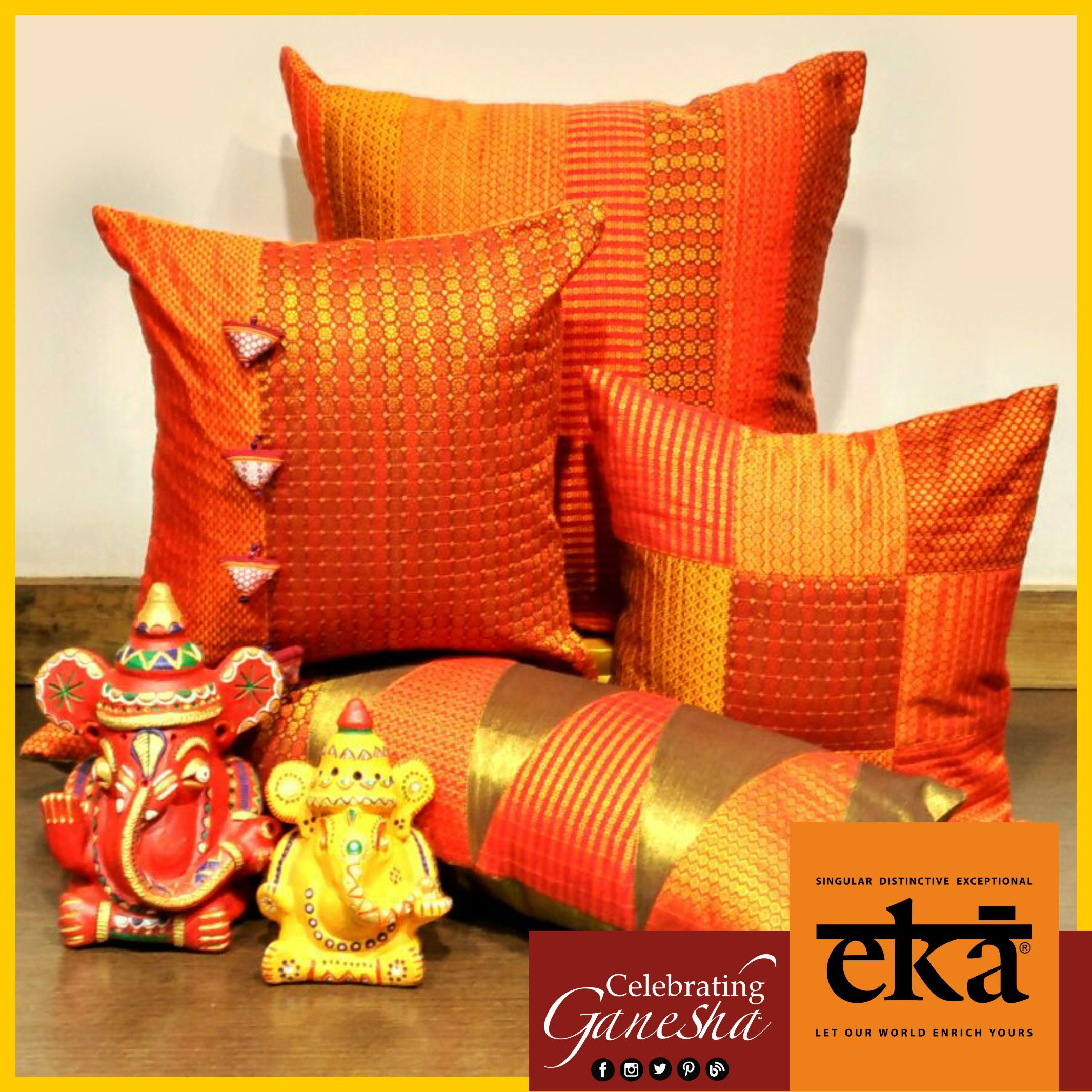 Eka is proud to host a new range of cushion covers specially