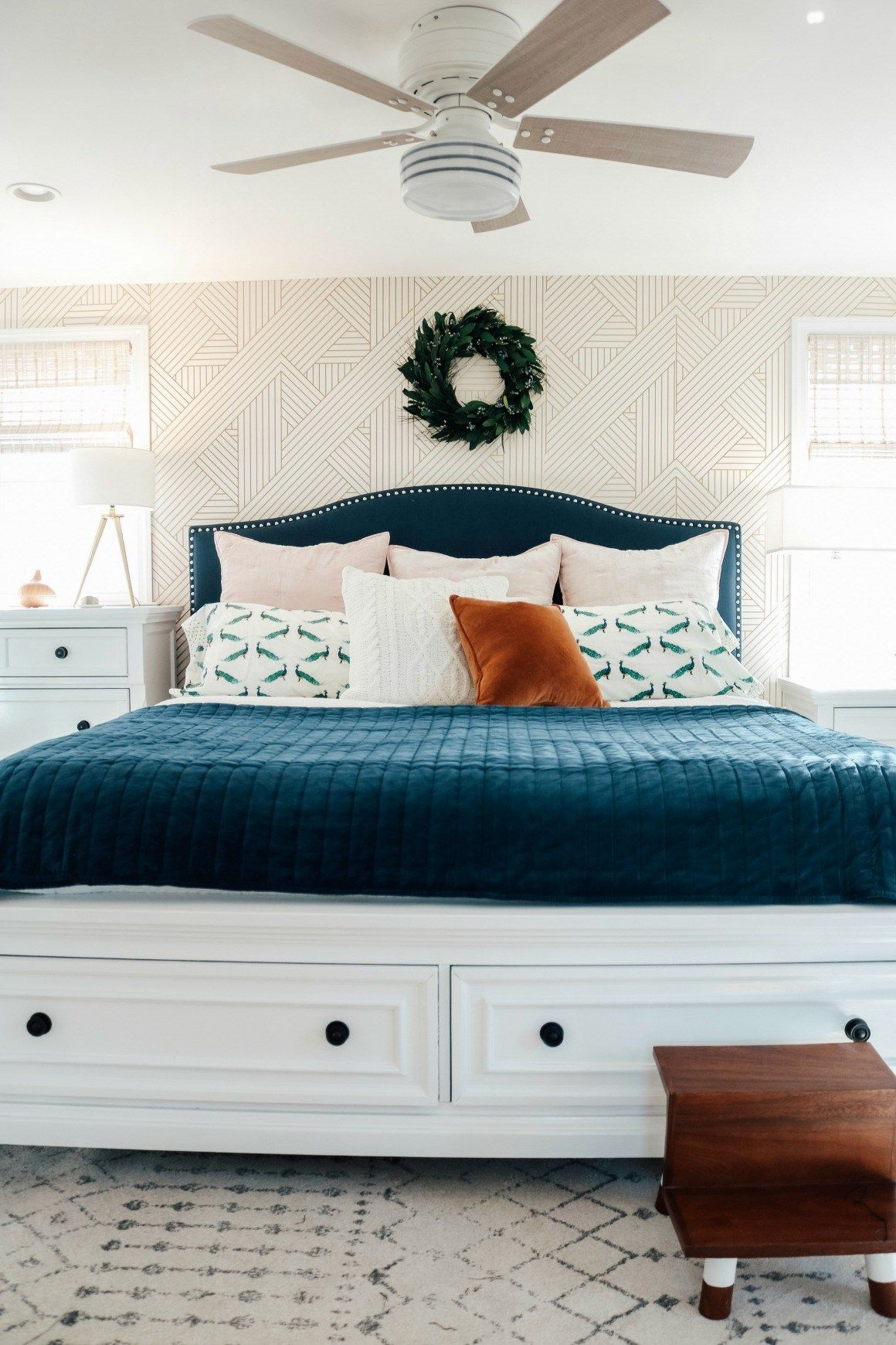 Bedroom Makeover Dark Furniture to Bright White with