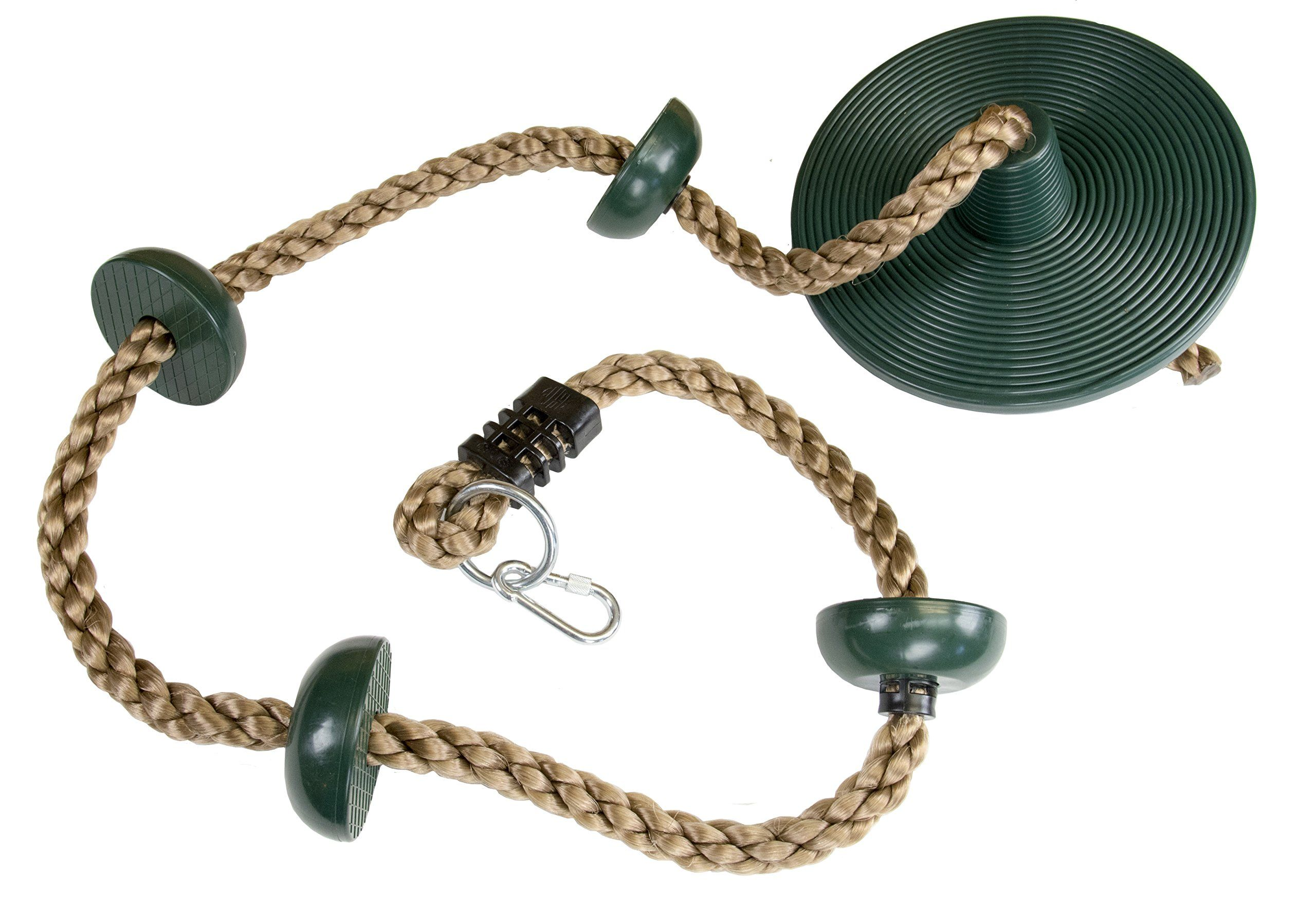 Climbing Rope With Small Platforms And Disc Swing Seat Must Have