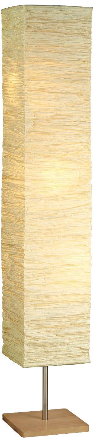 Crinkle Paper Square Floor Lamp | LampsPlus.com