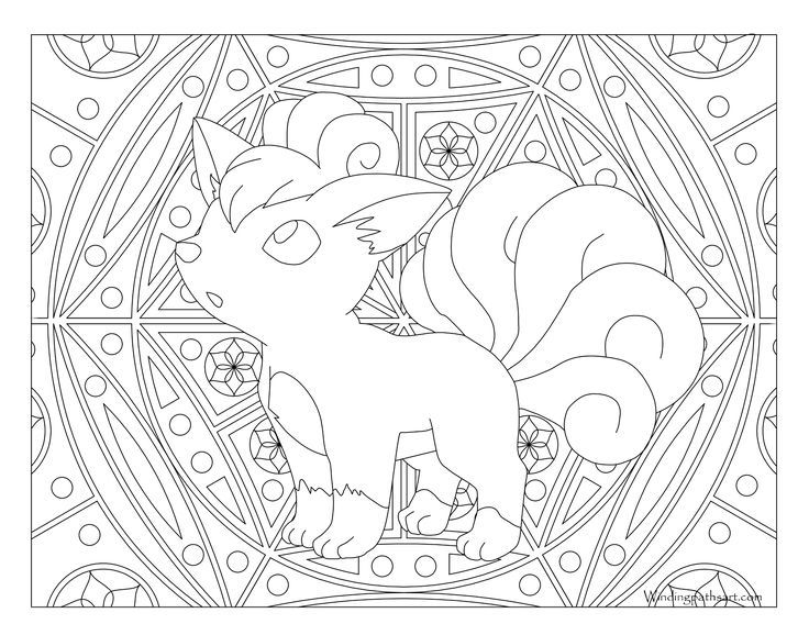 Adult Pokemon Coloring Page Vulpix | Coloring Pages ...