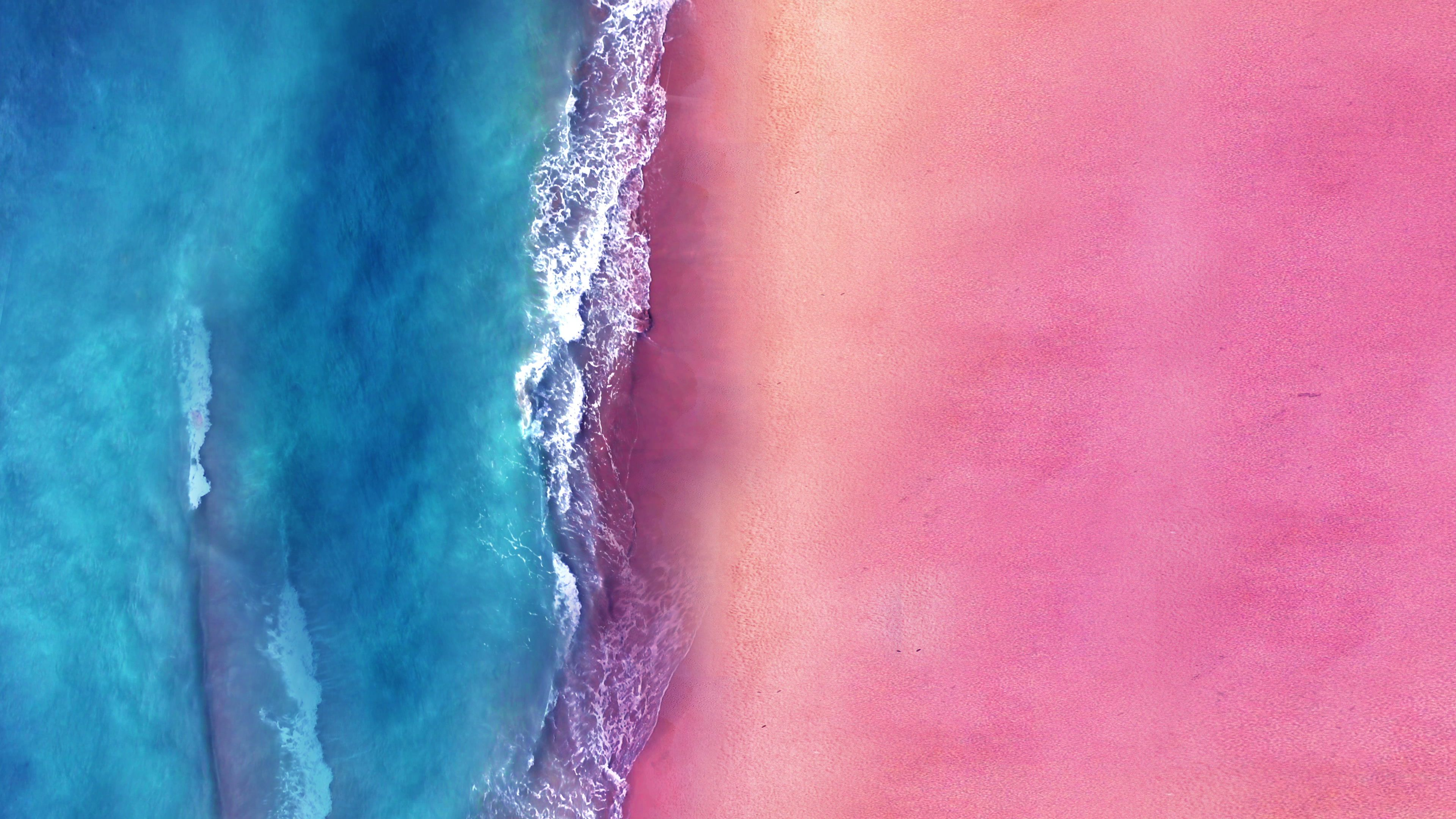 Aerial View Of Pink Sand Beach And Blue Ocean 4k Drone Footage Stock Footage Ad Sand Beach Pink Aerial Pink Sand Beach Pink Sand Aerial View