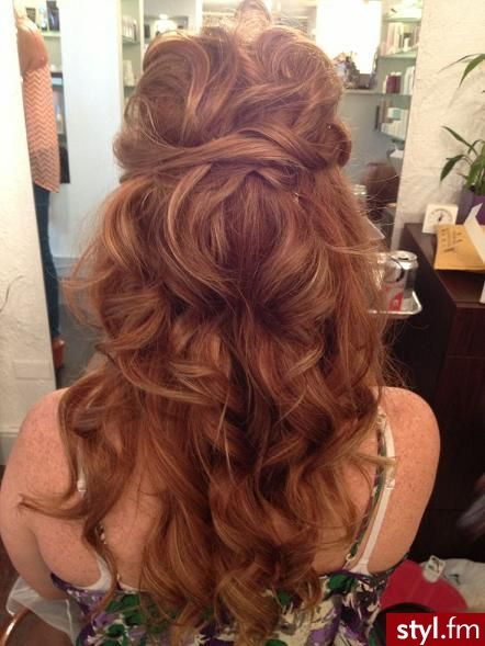 Pulled Back Waves Long Wavy Hair Hair Styles Long Curly Hair