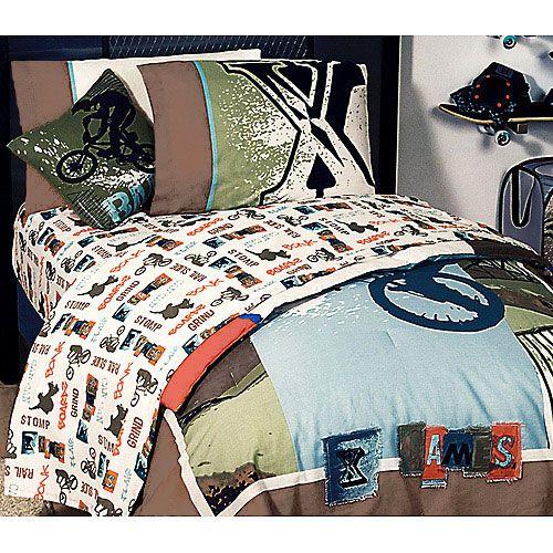 Extreme Sports XGames Bedding Set - Boys BMX Bedding Set ...