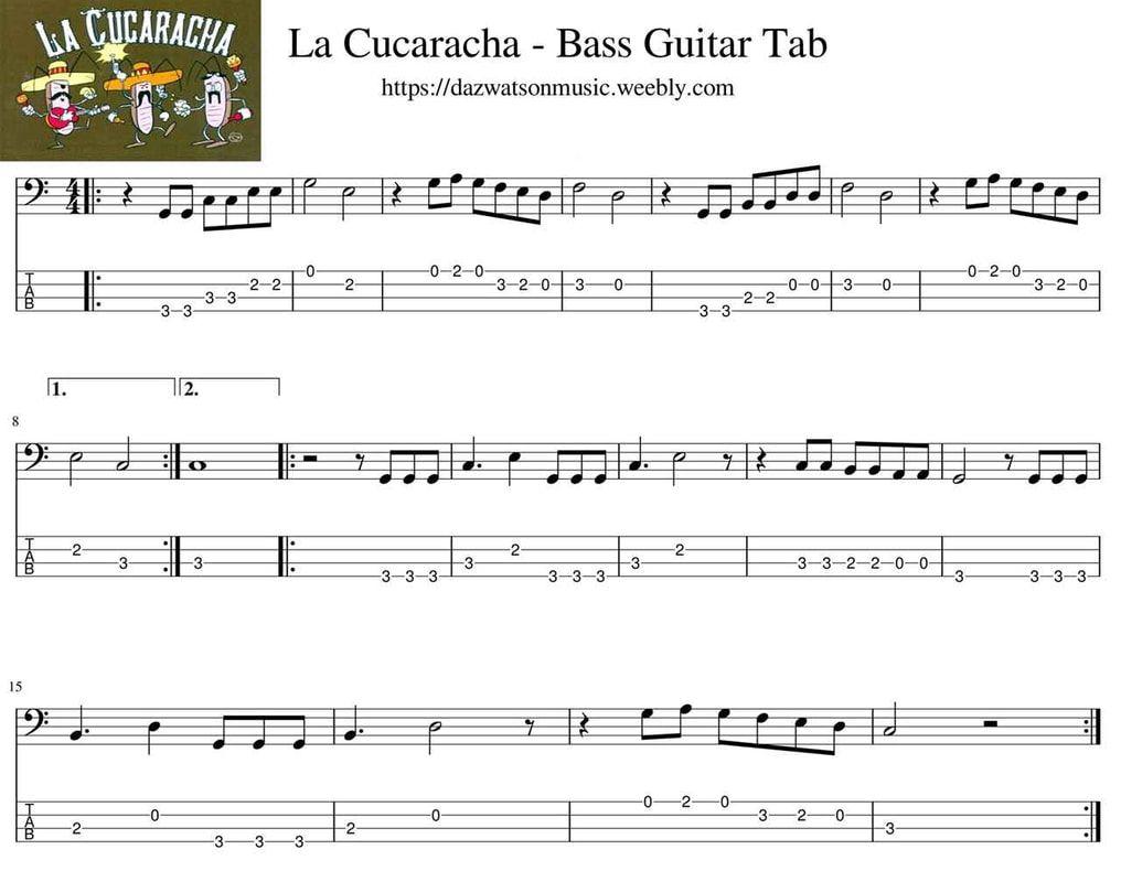 Bass guitar tabs for beginners Bass guitar tabs, Guitar