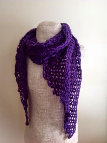 Undeniable Glitter: Purple Parallelogram Scarf | My All Free Crochet ...