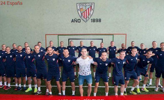 Los jugadores del Athletic se rapan la cabeza como apoyo a Yeray, que recibe quimioterapia