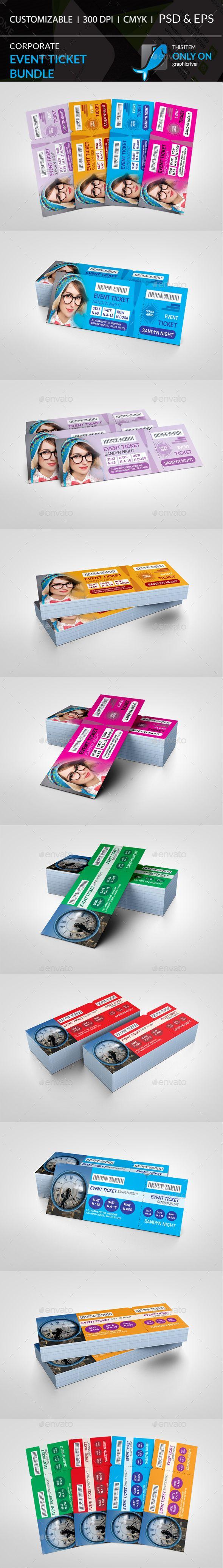 Event Ticket Bundle VIP Pass Cards & Invites Print Templates