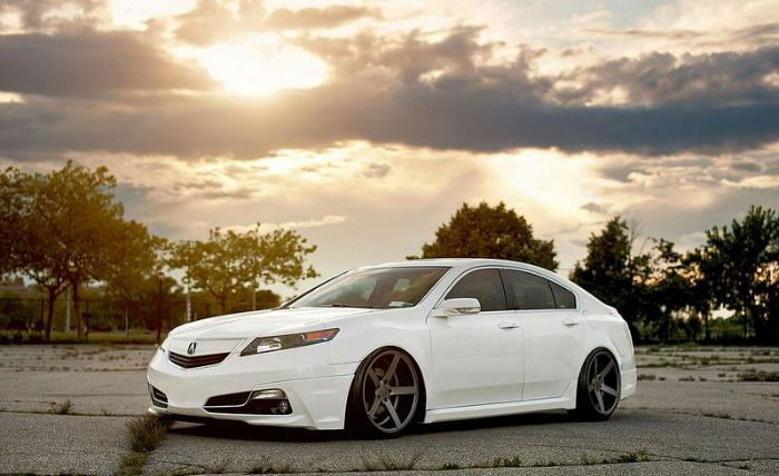2014 Acura TL White I should add a body kit to my whip  JDM AF