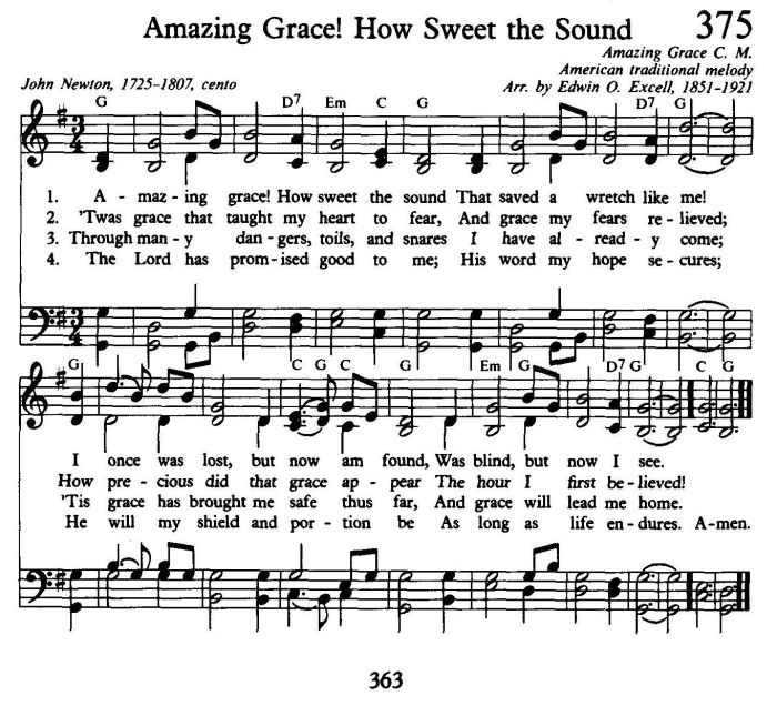 Amazing Grace Amazing Grace Lyrics Amazing Grace Sheet Music
