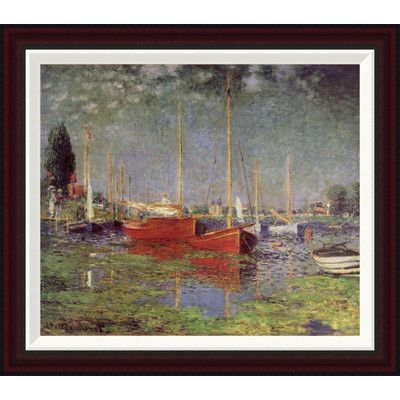 """Global Gallery Argenteuil, 1875 by Claude Monet Framed Painting Print Size: 22.7"""" H x 26"""" W"""