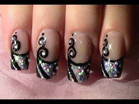 silvester nageldesign zum selber machen new year 39 s eve nail art design tutorial youtube so. Black Bedroom Furniture Sets. Home Design Ideas