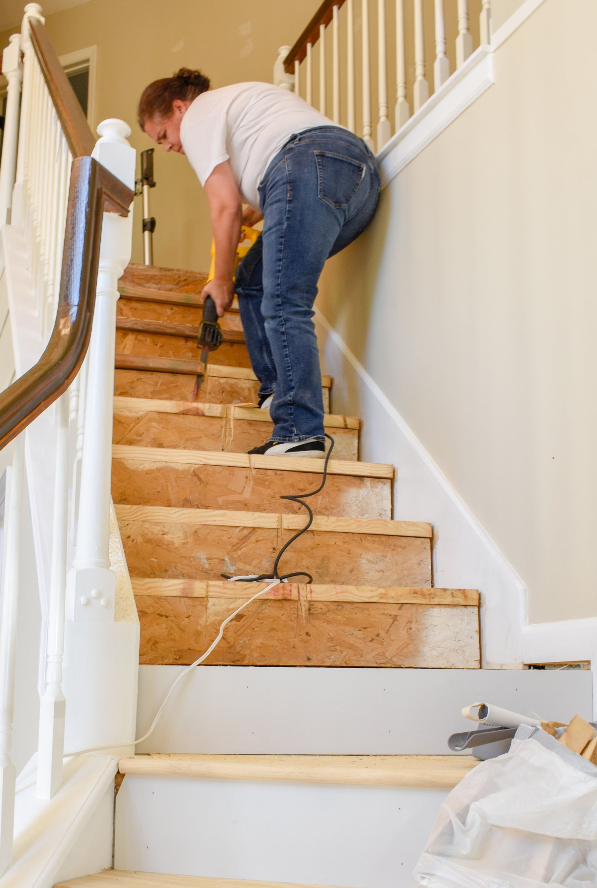 Diy Hardwood Staircase Makeover Replacing Carpet With | Changing Carpeted Stairs To Hardwood