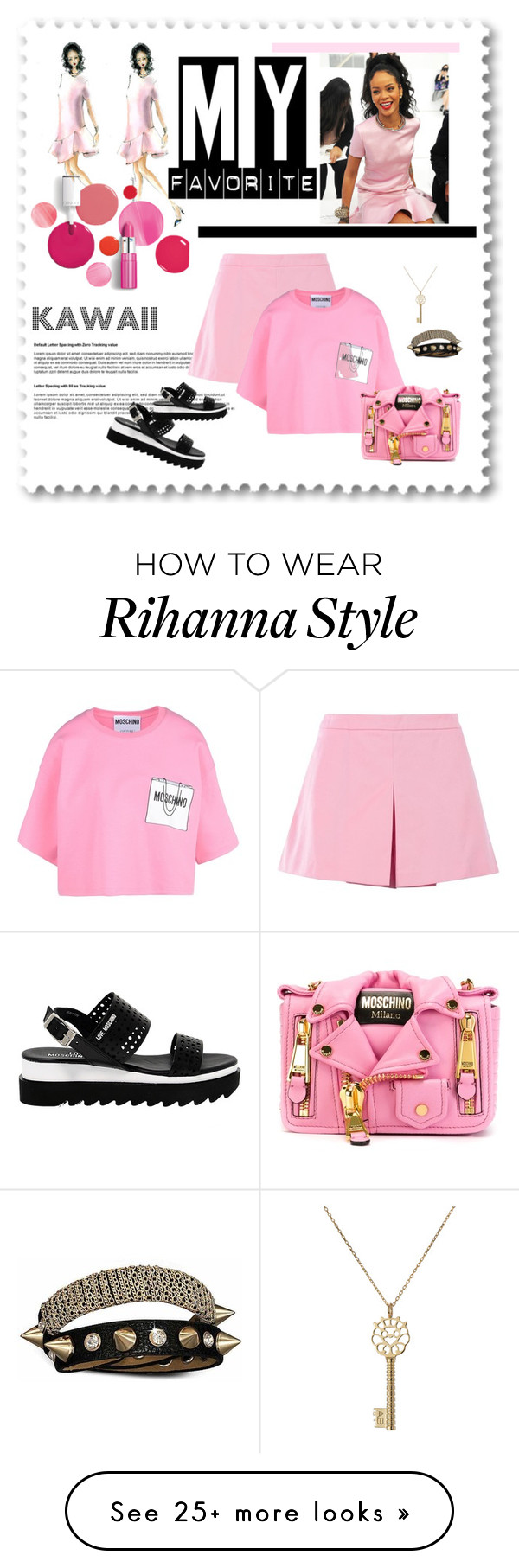"""KAWAII RiRi"" by winxnoelle on Polyvore featuring Clinique, Love Moschino, Moschino, Bling Jewelry and Aurélie Bidermann"