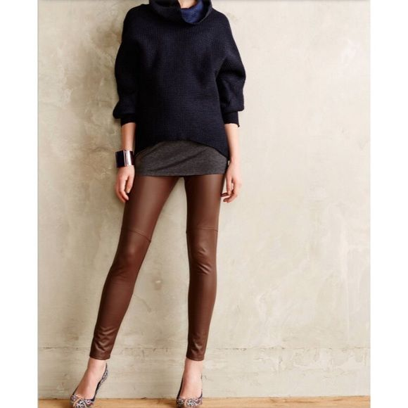 d0dcdde889814f EUC Anthropologie Vegan Leather Leggings Like new, only worn once vegan  leather leggings by Lysse for Anthropologie! Super comfortable with lots of  stretch.