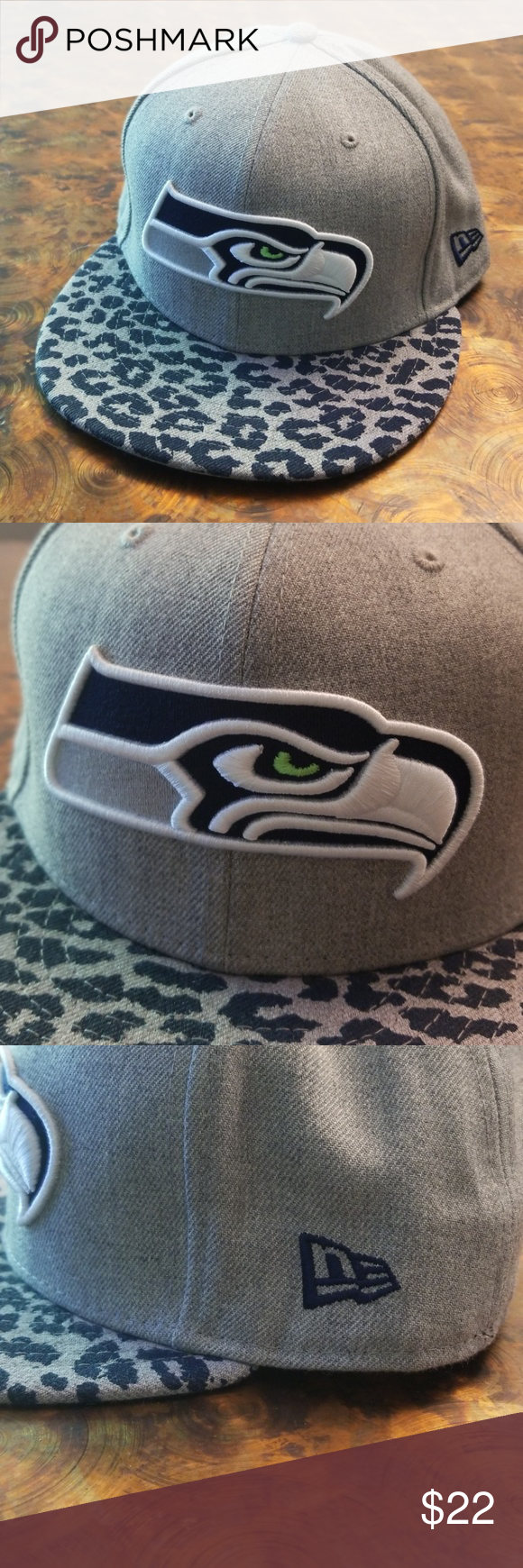 Seattle Seahawks New Era Hat Gray and blue Seahawks hat made by New ... 5f53d4318