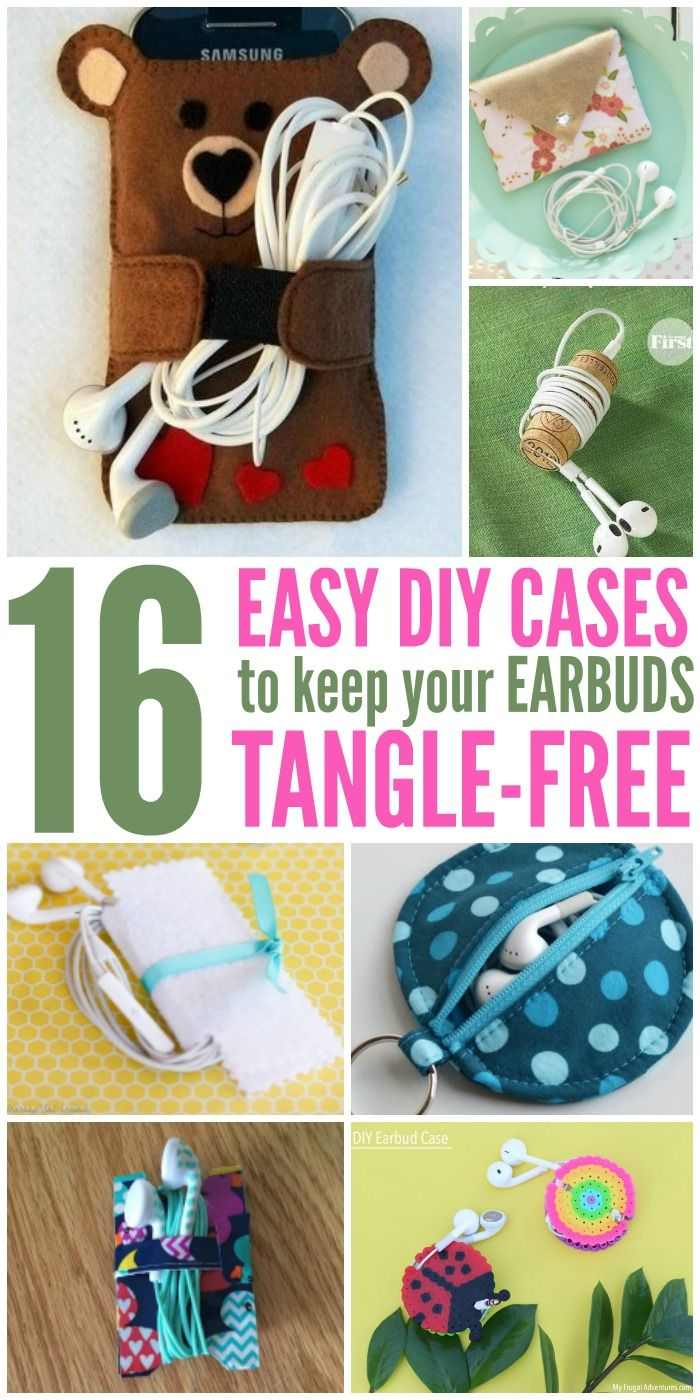 16 Diy Cases To Keep Your Earbuds Tangle Free Diy Case Mason