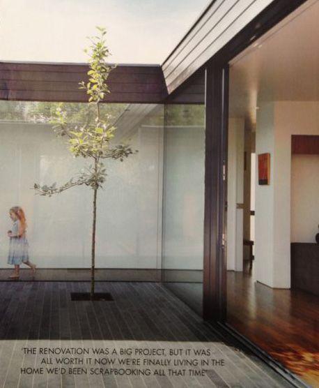 glas, doorloop en binnenruimte