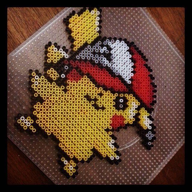 Pikachu Pokemon perler beads by mundiarte | Perles hama