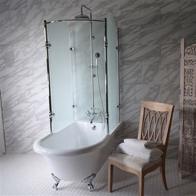 Clawfoot Tub Shower Surround.Oasis 65 Shpk 65 Extra Wide Classic Clawfoot Shower Tub