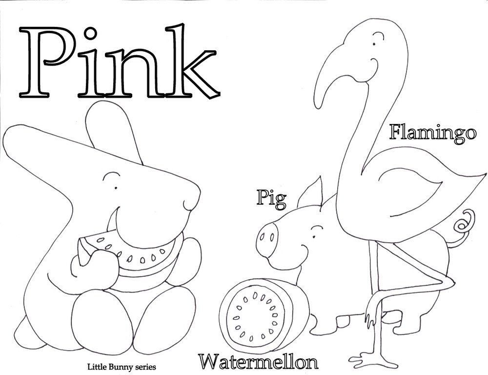 Pink Coloring Page Pdf Coloring Pages Letter A Coloring Pages Alphabet Coloring