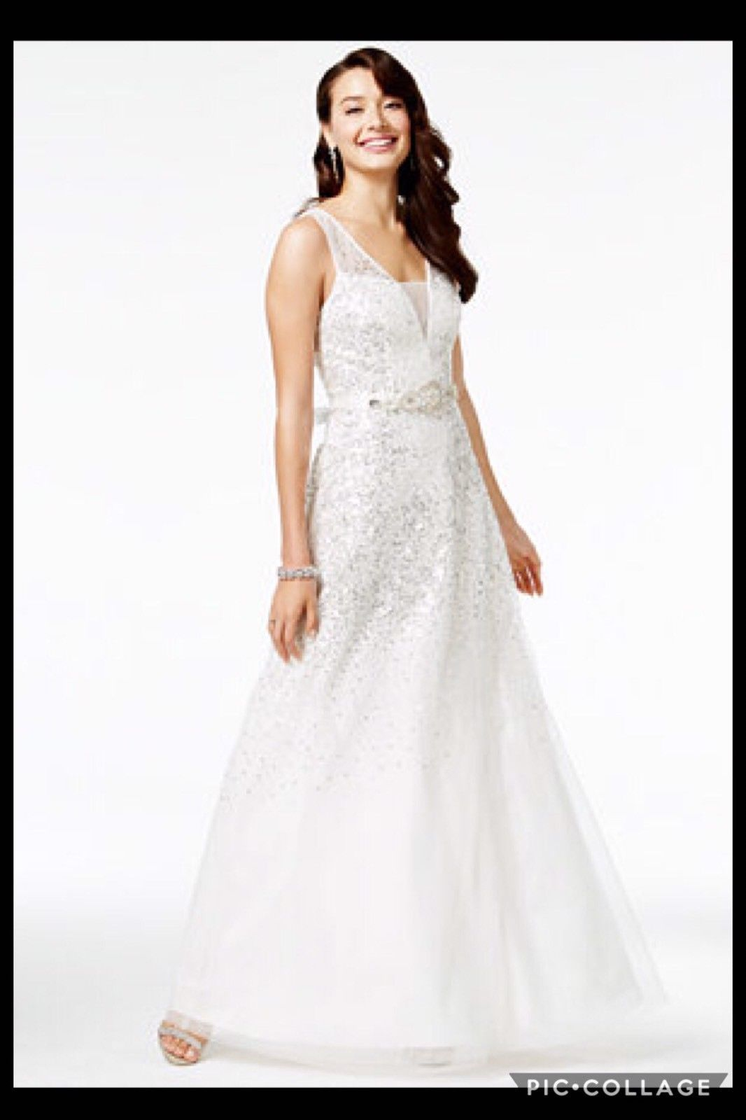Nice awesome macyus say yes to the prom juniorsu sequined embellish