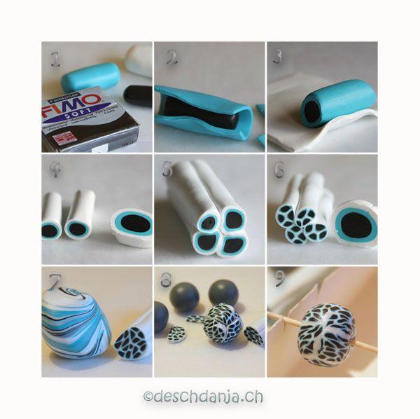 Häufig Millepunti beads. www.deschdanja.ch | Techniques | Fimo perlen QS87