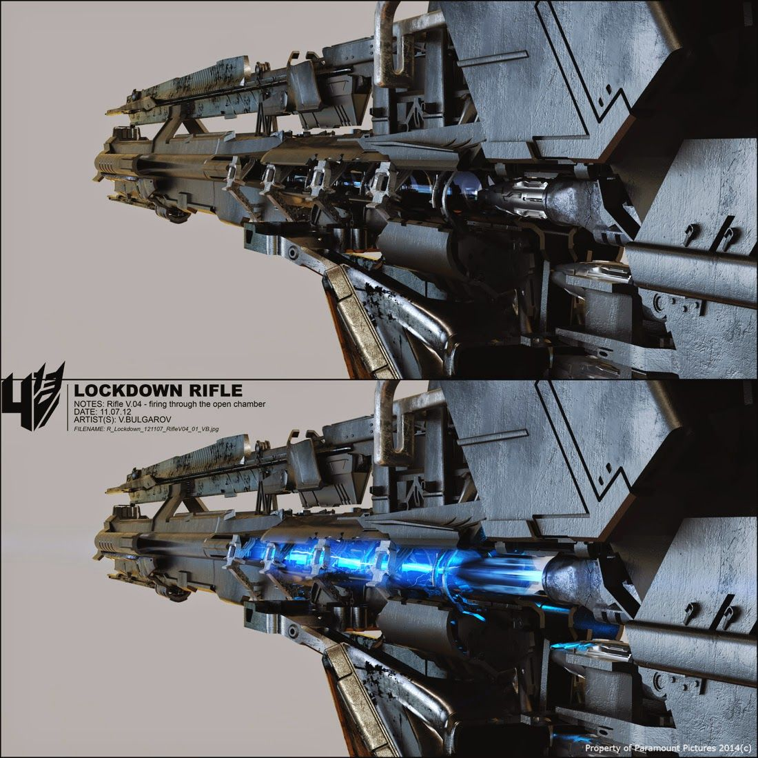 TRANSFORMERS 4: Age Of Extinction Lockdown's Weapon | CG ...