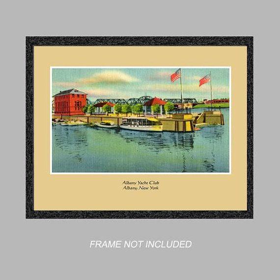 Postcard Wall Art - Albany Yacht Club - Albany, N.Y.- 8x10 Poster ...