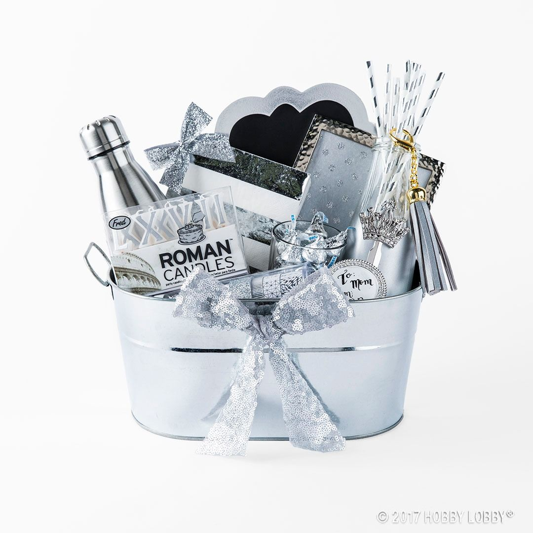 these color coordinated gift baskets are fun functional and perfect