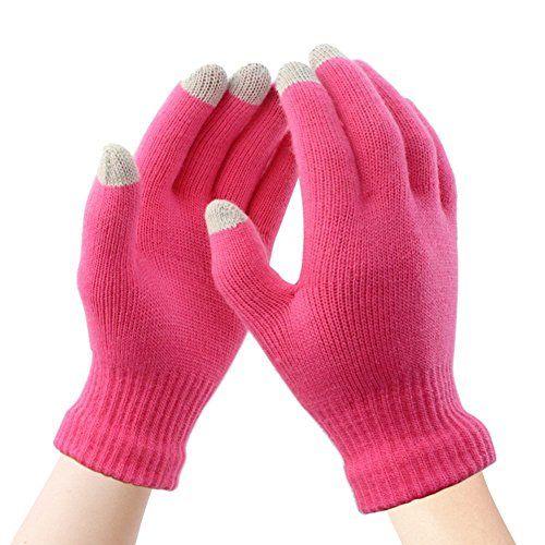 91ddd982d78932 WharFlag Touch Screen Gloves Knit Women - Touchscreen Gloves Ladies Mittens  Warm Gloves