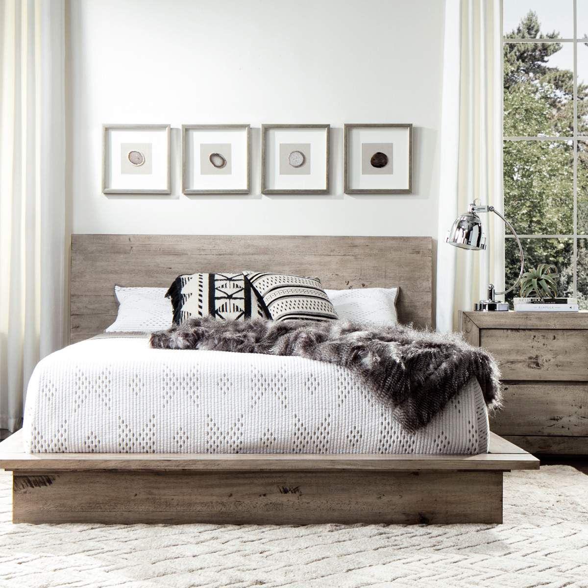 the midtown solid wood grey bedroom set